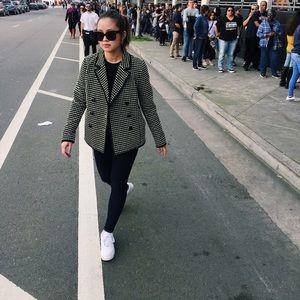MISS WU (JASON WU) Checked Neon Black Blazer Sz 4